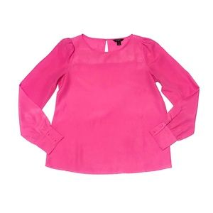J. Crew Factory | Boatneck Blouse in Hot Pink | S